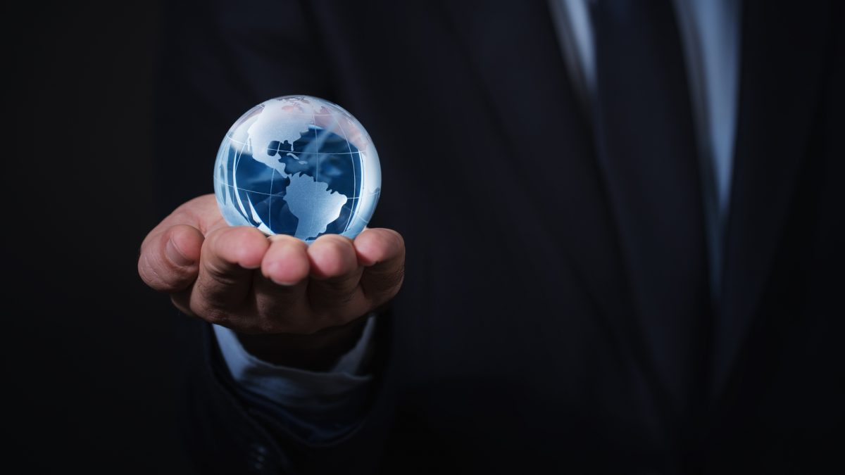 Holding Globe in One Hand