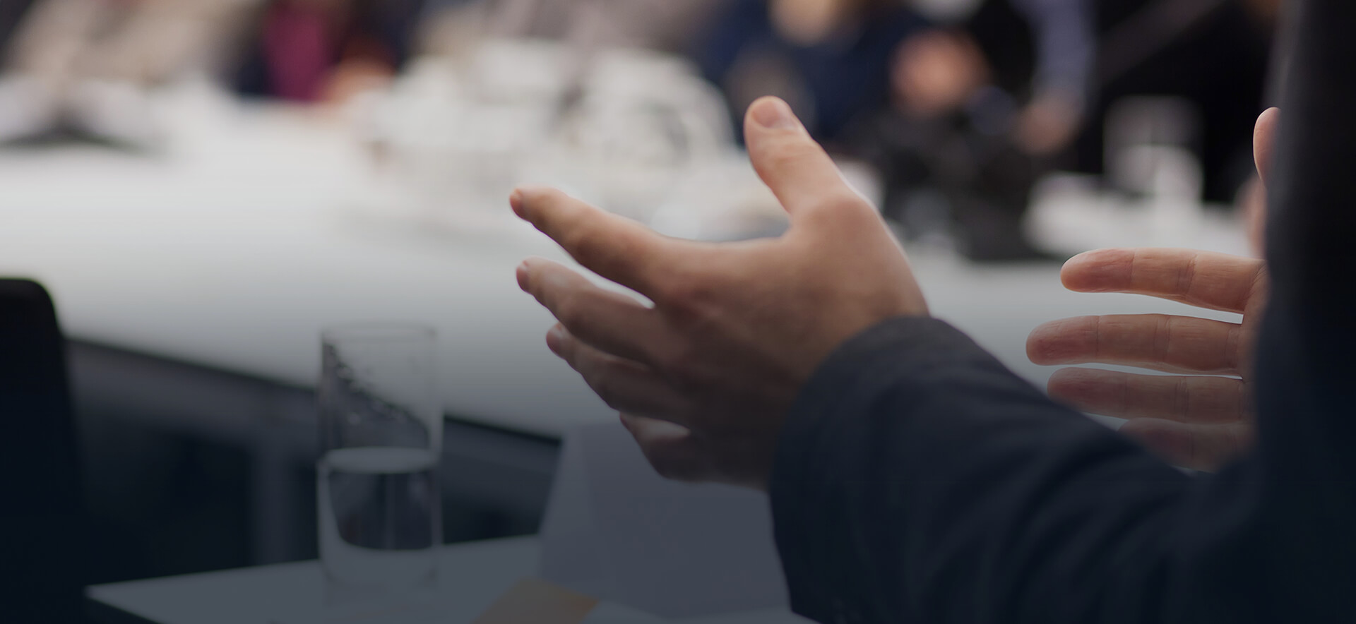 Hands at conference