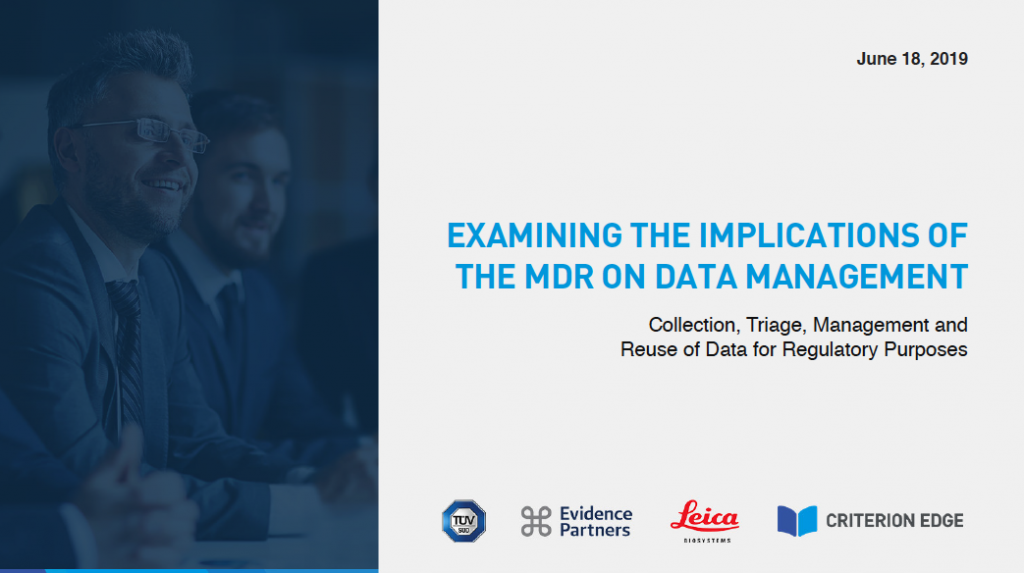 Examining MDR Implications on Data Management